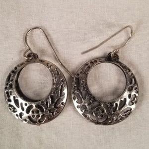 Jewelry - Silver Crescent Drop Earrings